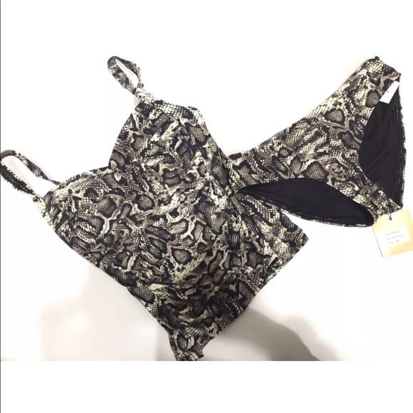 459ec1e8f833 Nip Tuck Swim   Wear Snake Skin Animal Print Bikini   Poshmark